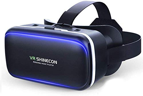 Vr Headset With Remote Controller, 3D Glasses Virtual Reality Headset For VR Games & 3D Movies, Eye Care System For Iphone And Android Smartphones (Black)
