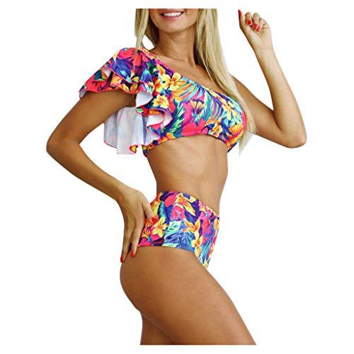 Eaylis Damen Bademode Sexy Bikini Hohe Taille Push Up Print Badeanzug Weibliche Beachwear Swimwear Strandmode Badebekleidung Sport Schwimmanzug