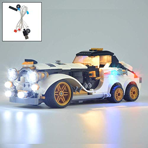 YLJJ Juego de Luces LED USB DIY Compatible con Lego Batman Movie The PenguinTM Arctic Roller 70911, Kit de luz LED para Bloques de construcción (película de Batman) Modelo niños (No