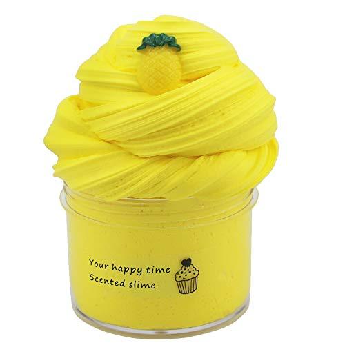Bör slem barn slem barn leksaker gåvor, fluffig slem att göra själv fluffig slem slime, skumbollar, frukt ansiktsdekoration