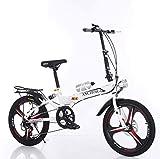 LCYFBE Bicicleta Plegable/Bicicleta de Ciudad Unisex, Hombres, Mujeres/Aluminio Ligero, 6 velocidades, Sistema de Plegado rápido 13 kg