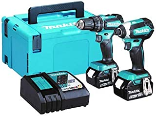 Makita DLX2283TJ 18V Li-ion LXT Brushless 2 Piece Combo Kit comprising DHP485Z and DTD153Z, Complete with 2 x 5.0 Ah Li-io...