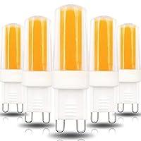 電球 電球G9セラミックベース、3W(30Wハロゲン等価)、260LM、3000K / 6000K G9ベース、AC100-130V G9室内照明用調光バルブ、5パック 昼光 LED 電球 (Color : Warm white)