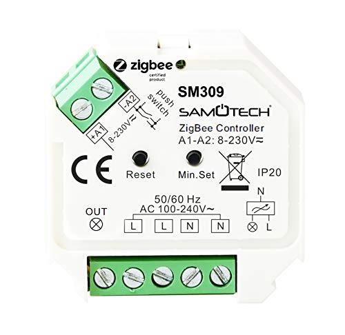 SAMOTECH Smart Home Zigbee Intelligente Sensoren (SM309 - Zigbee-Dimmer)