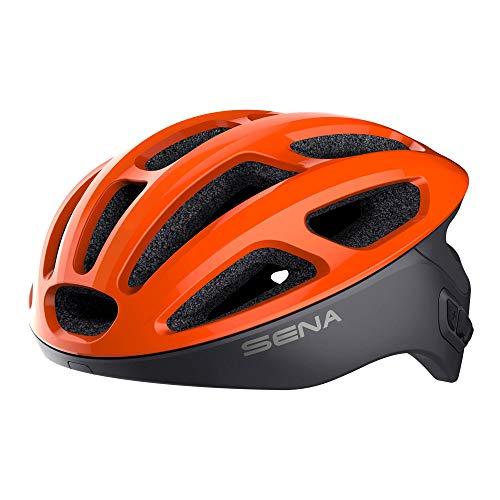 Sena R1 Smart Cycling Helmet (Electric Tangerine, Large)