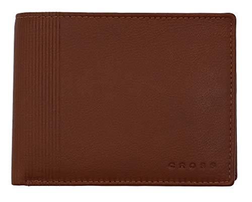 Cross Geldbörse Herren Vachetta mit RFID-Schutz - Echtleder - Cognac Querformat