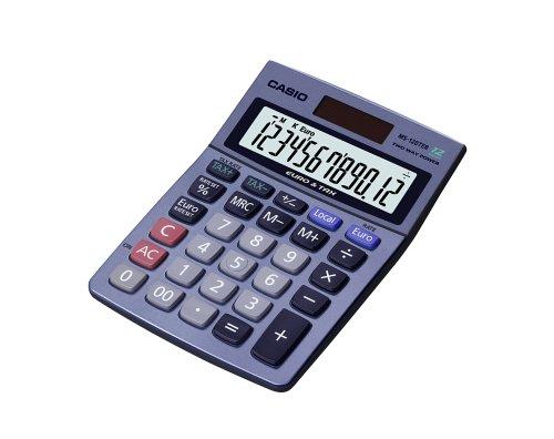Casio MS-120TER Tischrechner mit Steuer- und EURO-Umrechnungsfunktion und EXTRA BIG LCD