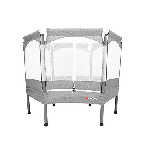 KUTON Heavy Duty Trampoline, Kids Trampoline with Safety Enclosure Net