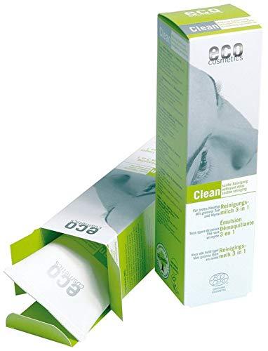 eco cosmetics Bio Reinigungsmilch mit grünem Tee und Myrte (6 x 125 ml)