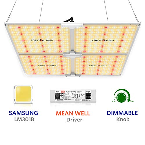Spider Farmer Newest SF-4000 LED Grow Light 5x5 ft Flower Compatible with Samsung LM301B Diodes Dimmable Grow Lights for Indoor Plants Commercial Full Spectrum 3000K 5000K 660nm 760nm IR 1212pcs LEDs