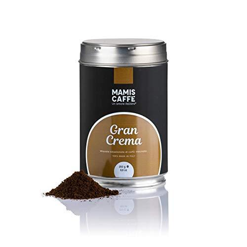 Mamis Caffè Gran Crema 100% Arabica Espresso Kaffeebohnen gemahlen 250 gr