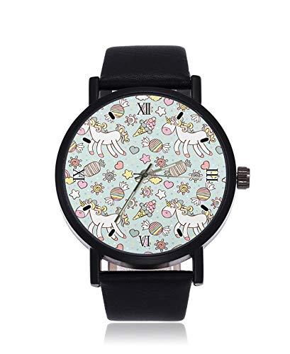 Pferde-Hintergrundbild, ultradünn, Herren/Damen, Armbanduhr, Business Casual Sport Quarzuhr für Frauen Herren Wasserdicht Unisex Armbanduhr