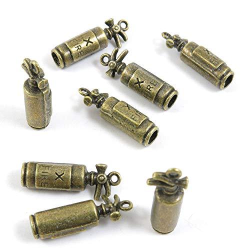 Antieke Bronzen Toon Sieraden Bedels Q05104 Brandblusser Craft Art maken Crafting Kralen Antiek brons