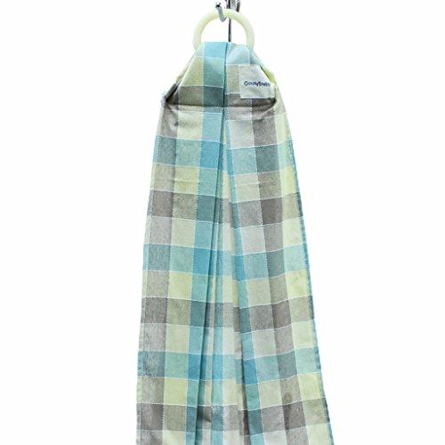 Vine Porte-bébé Anneau écharpe porte-bébé Wrap Séchage Rapide, Confortable, Légère, Aérée & Résistante(plaid jaune et vert)