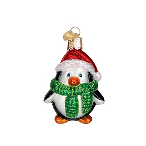 Old World Christmas Playful Penguin Collection Glass Blown Ornaments for Christmas Tree