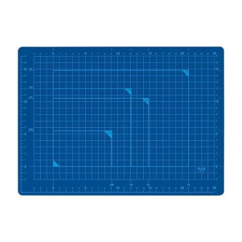 プラス カッターマット 両面 A4 230×320mm ブルー 48-571