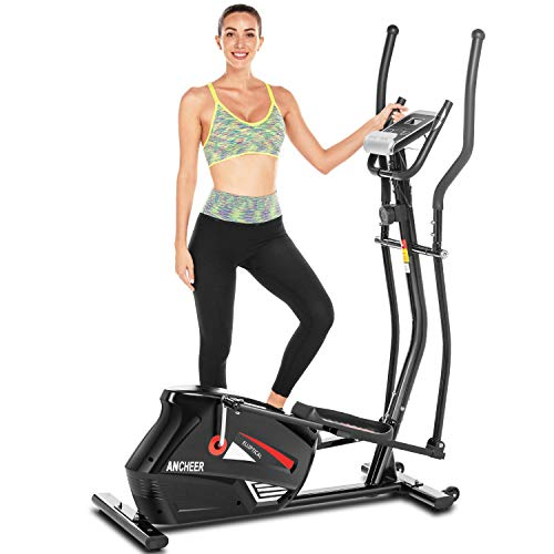 ANCHEER Magnetic Elliptical Cross Trainer Machine, Quiet & Smooth, Cardio Equipment for...