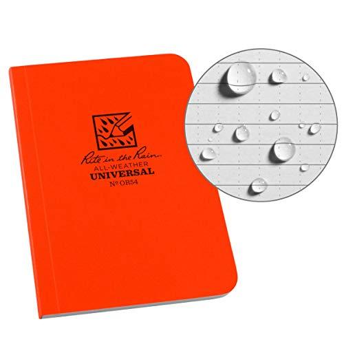 Rite in the Rain Allwetter-Notizbuch mit weichem Einband Universal Orange