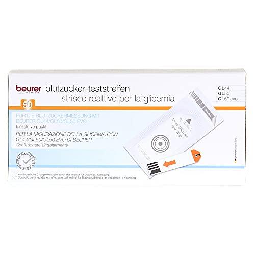 BEURER GL44/GL50 Blutzucker-Teststreifen Folie 50 St