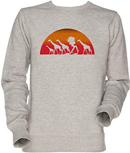 Vendax Erkunden Herde Herren Unisex Herren Damen Jumper Sweatshirt Grau Men's Women's Jumper Grey