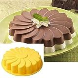Fewear Molde de silicona para tartas de una sola flor para hornear tartas, molde de gelatina