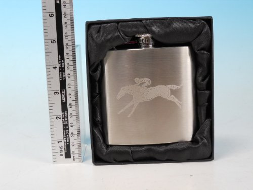 Horse Racing en inox 6 oz Flasque de hanche Taille