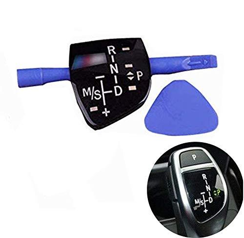 SZMWL Car Gear Shift Knob Panel Sticker Cover for BMW Models ///M X1 X3 X5 X6 F01 F10 F30 F35 F18 Short Type