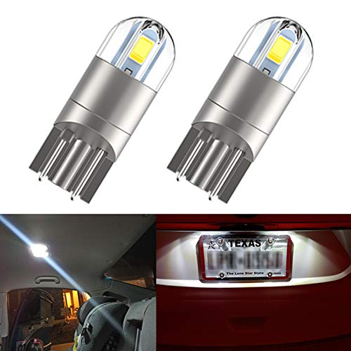 NEW UPGRADED T10 194 LED, Extremely Bright White Light 168 2825 W5W Bulb for Dome Map Courtesy Trunk Tail Light, License Plate Light 2Pcs