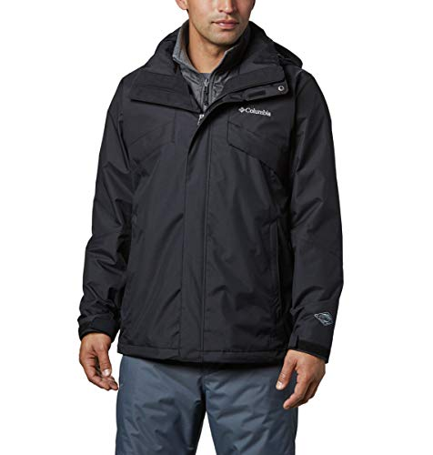Columbia Men's Bugaboo II Fleece Interchange Jacket, Waterproof and Breathable,BLACK - 10,Small