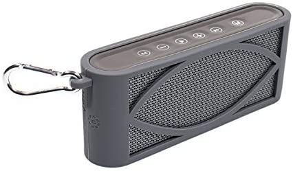 popular getgear 2021 Customized Silicone Cover for Antimi Bluetooth Speaker,FM Radio Player,MP3 Player Stereo Portable Wireless Speaker, Shock and Shake Proof, Easy to outlet sale go Carabiner (Gray) outlet sale