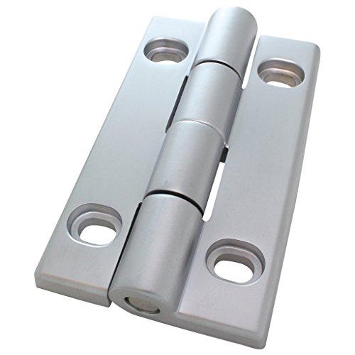 Bisagra resistente AL 90 de aluminio fundido a presión, 30/30, 58 x 96 mm