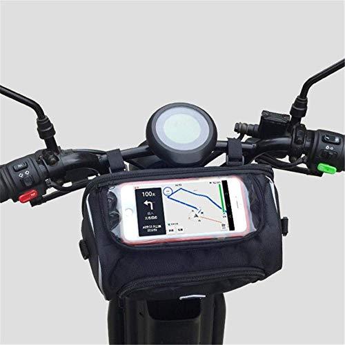 Kinhevao Sportausrüstung Fahrradträger-Tasche, Motorrad vorne Lenker Wasserdicht Pannier Beutel, große Kapazitäts-Speicher-Beutel mit Abnehmbarer Schultergurt for Fahrrad for Outdoor SPOR