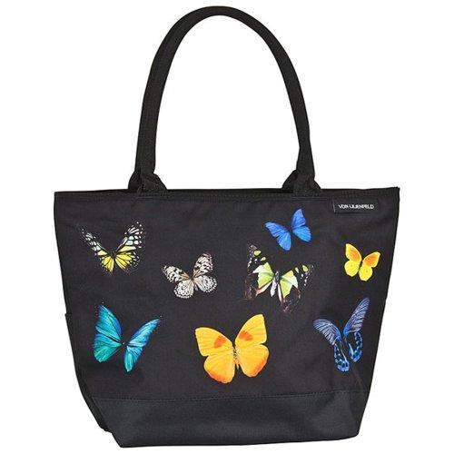 VON LILIENFELD Handtasche Damen Motiv Butterfly Schmetterlingstanz Shopper Maße L42 x H30 x T15 cm Strandtasche Henkeltasche Büro
