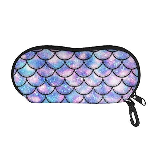 Renewold Estuche para gafas de sol, diseño de escamas de pescado, organizador de gafas, bolsa de cartera suave, bolsa de almacenamiento para gafas para mujeres, adolescentes y niñas