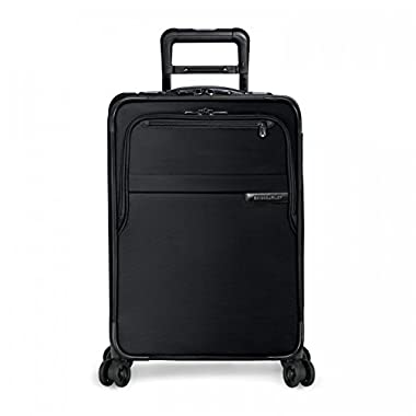 Briggs & Riley Baseline Domestic Carry-On Exp Spinner, Black, One Size