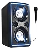 BLAUPUNKT PS 2000 mobile PA Sound Anlage mit Akku & Lichteffekten – Bluetooth Soundsystem mit Equalizer & Radio inkl. Mikrofon (MP3, USB, AUX, 2 x 25 Watt RMS)