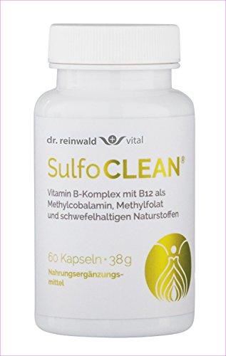 dr.reinwald SulfoCLEAN – Nahrungsergänzungsmittel mit Vitamin B6, B9, B12, schwefelhaltigem MSM & Bärlauch – Unterstützt den Stoffwechsel & die körpereigene Entgiftung – 60 Kapseln