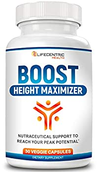Boost Height Increase Pills | Grow Taller and Achieve Your Peak Height | Natural Growth Pills for Strong and Healthy Bone Growth | Powerful Pure Growth Factor Plus Fast Relief from Growing Pains