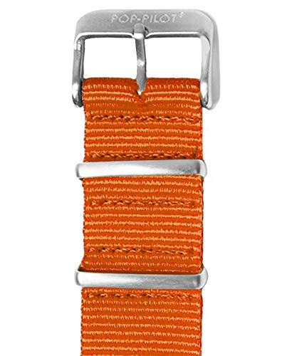 Pop Pilot Damen Stoff Uhrenarmband Orange M 20mm