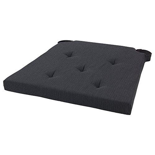 IKEA/イケア JUSTINA/ユスティーナ:チェアパッド グレー/ブラック (803.044.27)