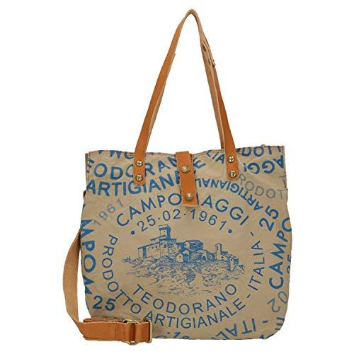 Campomaggi Shopper 33 cm L beige/Blue Print