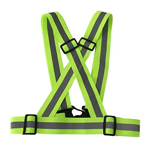 MXECO Reflective Straps Nachtlaufreitleuchtbekleidung Warnweste Einstellbarer Sicherheitsweste Weste Reflektierende Elastic Band (Fluorescent gelb)