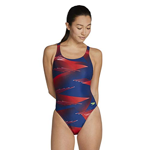 Speedo Women's Swimsuit One Piece ProLT Super Pro Printed Adult Team Colors, Lane Game Red/White/Blue, 32