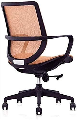Silla de oficina para juegos y oficina, giratoria para computadora o escritorio, silla de trabajo ergonómica de malla para oficina (color: naranja, tamaño: 56 x 68 x 89 cm)