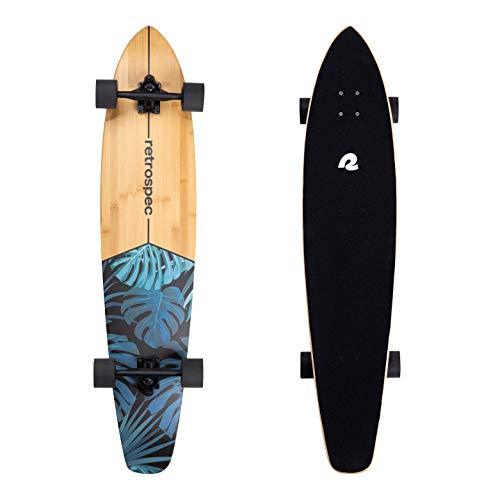 Retrospec Zed Longboard Skateboard Complete Cruiser | Bamboo & Canadian Maple Wood Cruiser w/Reverse Kingpin Trucks for Commuting, Cruising, Carving &...