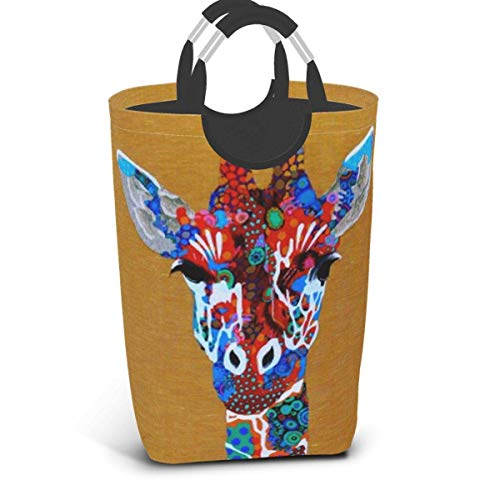 IUBBKI Washday Laundry Hamper Basket, Funny Giraffe College Dorm Hampers - Durable Handles for Easy Carry, Foldable Dirt.