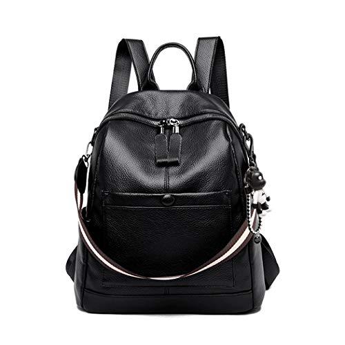 BUKESIYI Women's Backpack Handbags Rucksack Shoulder Bags PU Leather Mini Kawaii Anti-theft CCUK78240 Black