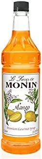 Monin Flavored Syrup, Mango, 33.8-Ounce Plastic Bottle (1 liter)