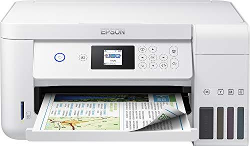 Epson EcoTank ET-2756 3-in-1 Tintenstrahl Multifunktionsgerät (Kopierer, Scanner, Drucker, DIN A4, Duplex, WiFi, Display, USB 2.0), großer Tintentank, hohe Reichweite, niedrige Seitenkosten, weiß