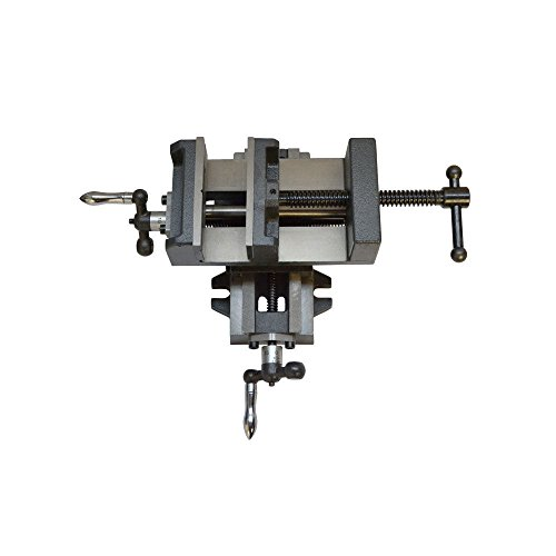 """2 Way 4"""" Drill Press X - Y Compound Clamp Vise Slide Metal Milling"""
